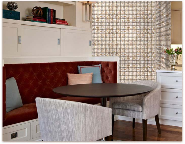Home Elements Mother of Pearl Tile - Pearl glass mosaic tile, shell tiles, kitchen backsplash tile