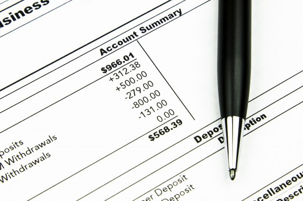 Image of a bank statement - schoolteacher who made a million dollars hates bank statements