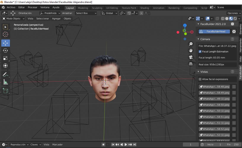 Modelos 3D con Blender - modelo de rostro
