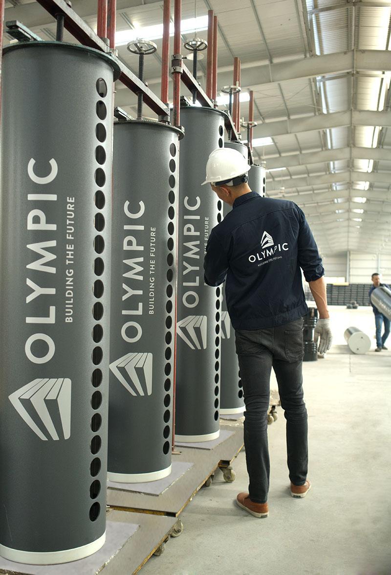 Bình bảo ôn máy năng lượng mặt trời Olympic