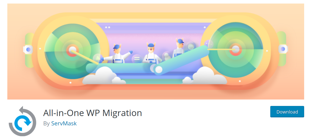 all in one wp migration wordpress migration plugin header