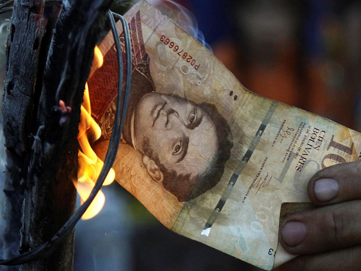 Hyperinflation in Venezuela has led to nation-wide protests