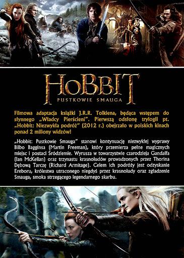 Tył ulotki filmu 'Hobbit: Pustkowie Smauga'
