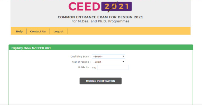 Enter Details in CEED 2022 Application Form: