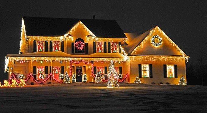 trang trí nhà cửa ngày tết bằng đèn led