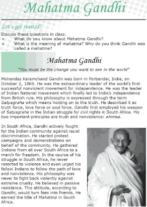 Essay On Mahatma Gandhi In English For Class