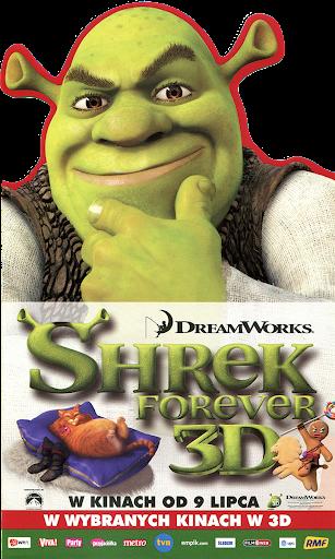Przód ulotki filmu 'Shrek Forever'
