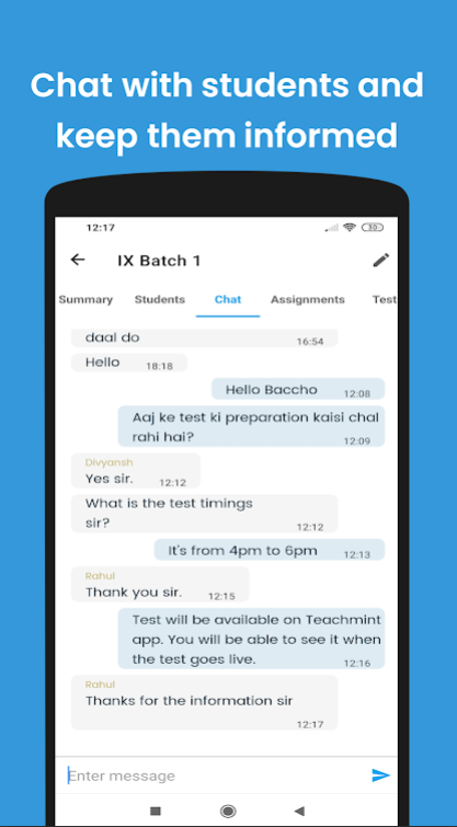 Chat and communication;online teaching app