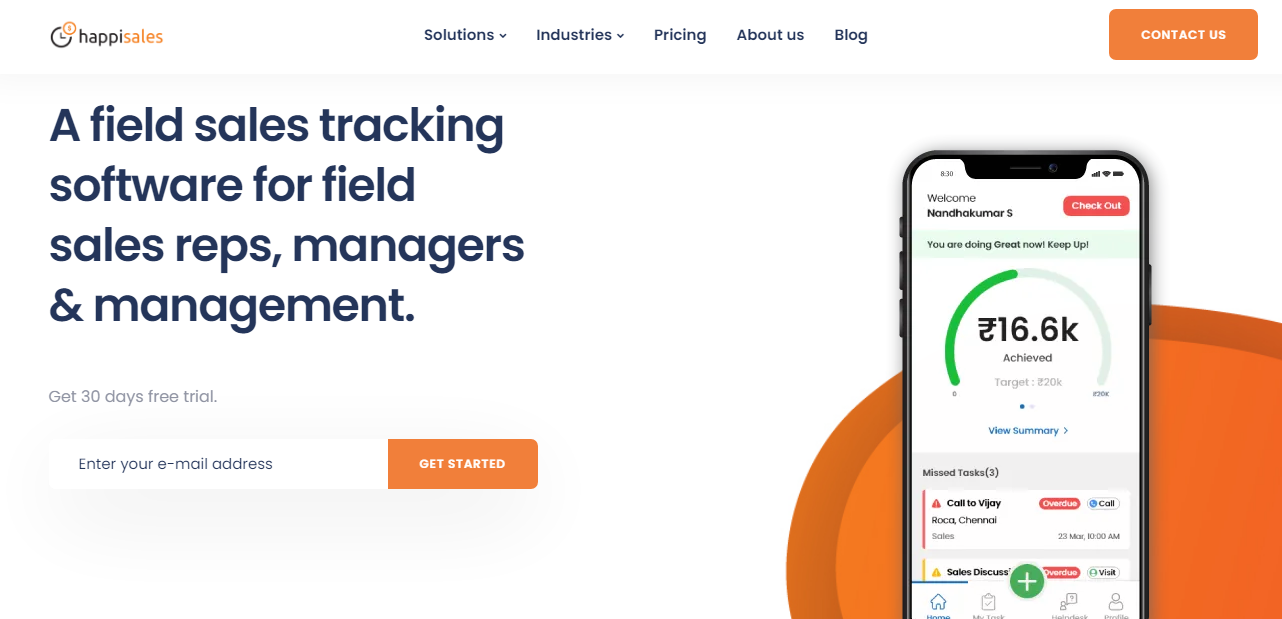 Field sales tracking