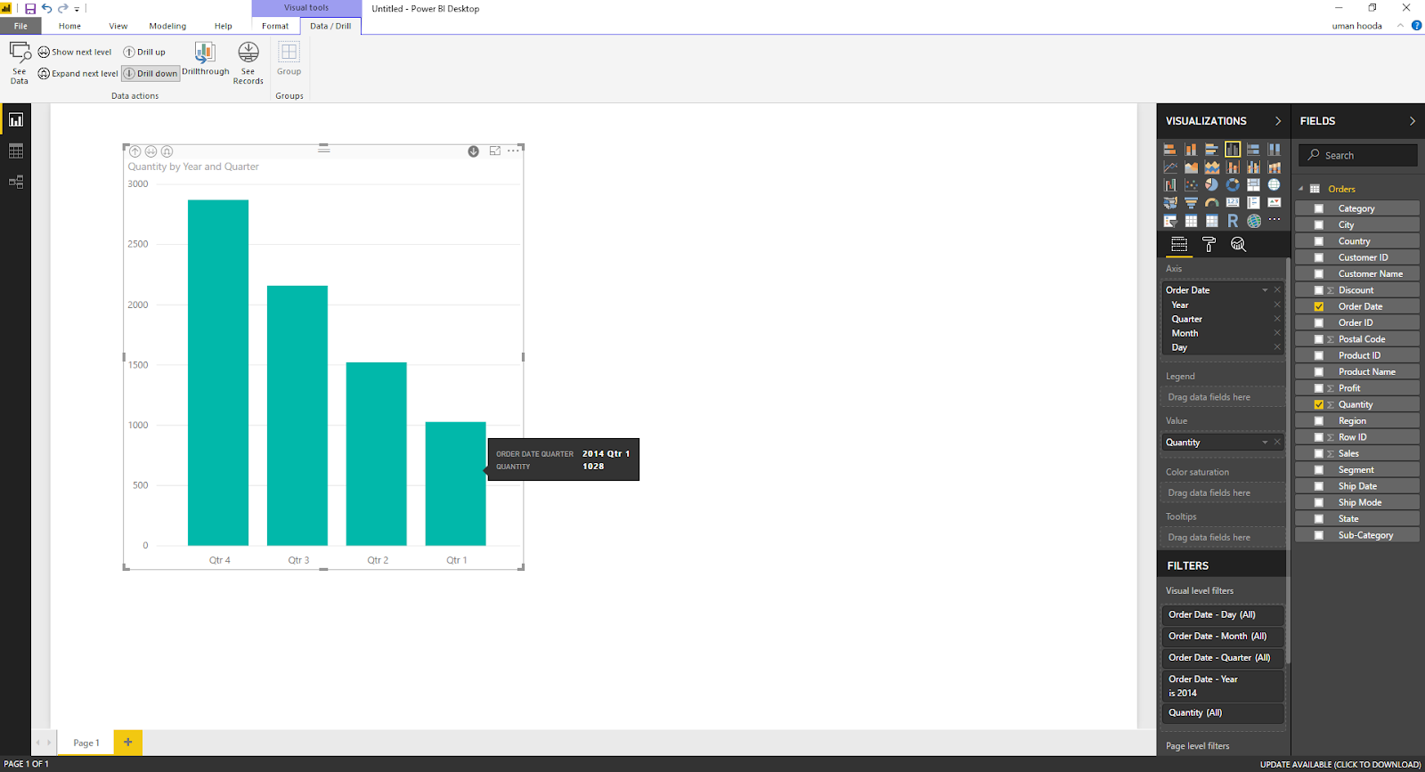 Drill In / Out on Your Data For Different Dates In Microsoft Power BI 34