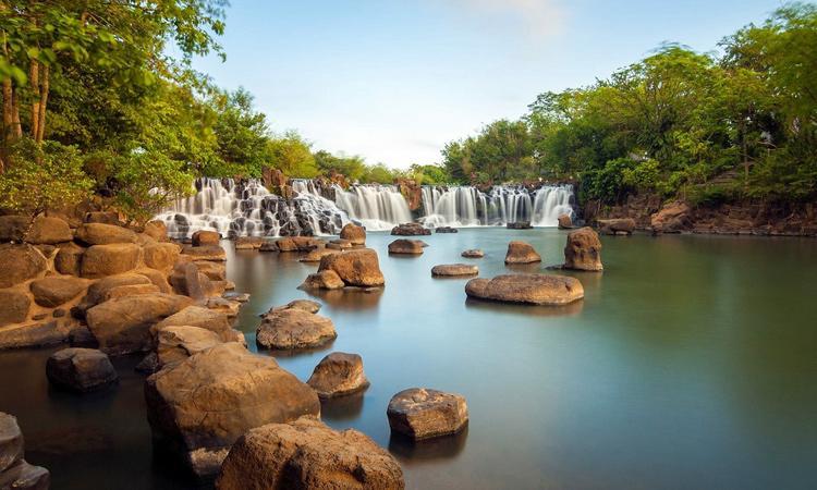 Cảnh sắc tuyệt đẹp tại thác Giang Điền