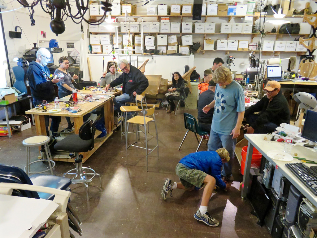 students in a makerspace