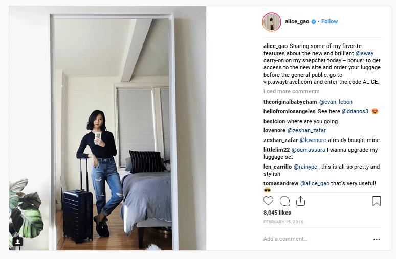 AWAY Instagram Post - DTC Growth