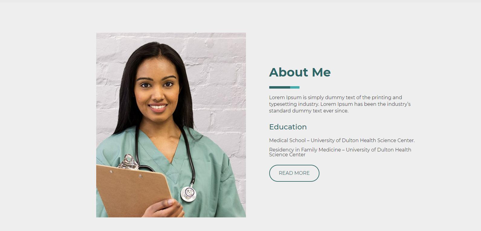 Doctor WordPress template
