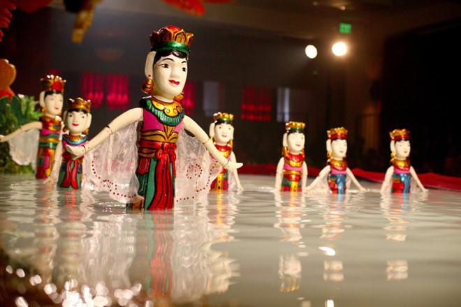 Image result for hình ảnh múa rối nước