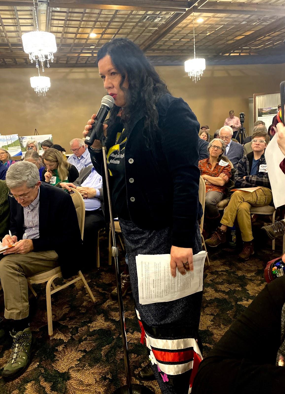 West End News - CMP Corridor public hearing - Dawn Neptune Adams testifies