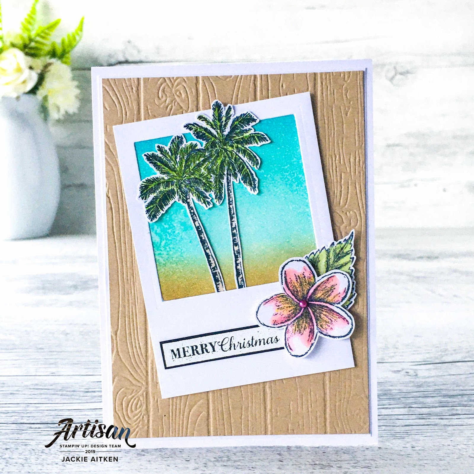 Jaxx Crafty Creations, Stampin' Up!, Be Inspired Blog Hop, Timeless Tropical, Tropical Cards, Tropical Christmas, Christmas Cards.