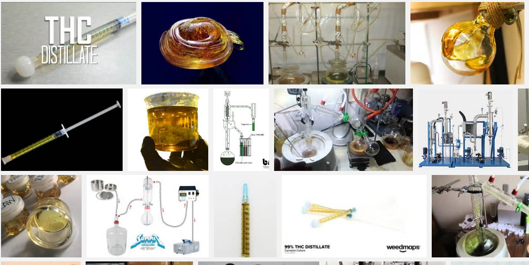 the various forms of THC distillate.