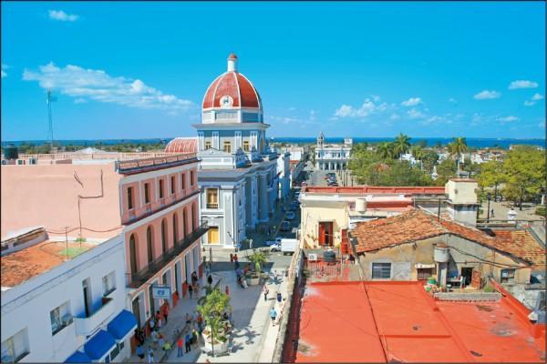 古巴西恩富戈斯街景,古城風韻令人沉醉。