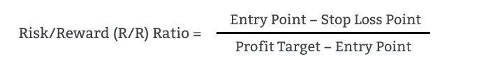 Risk reward ratio calculation.