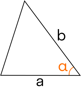 треугольник с углом в основании
