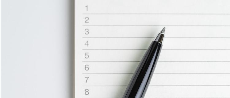 政策金融公庫運転資金ペンとノート