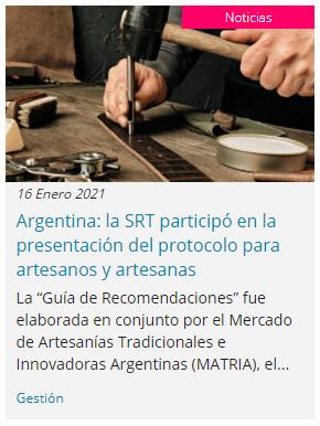 La SRT participa en protocolo de seguridad de artesanos