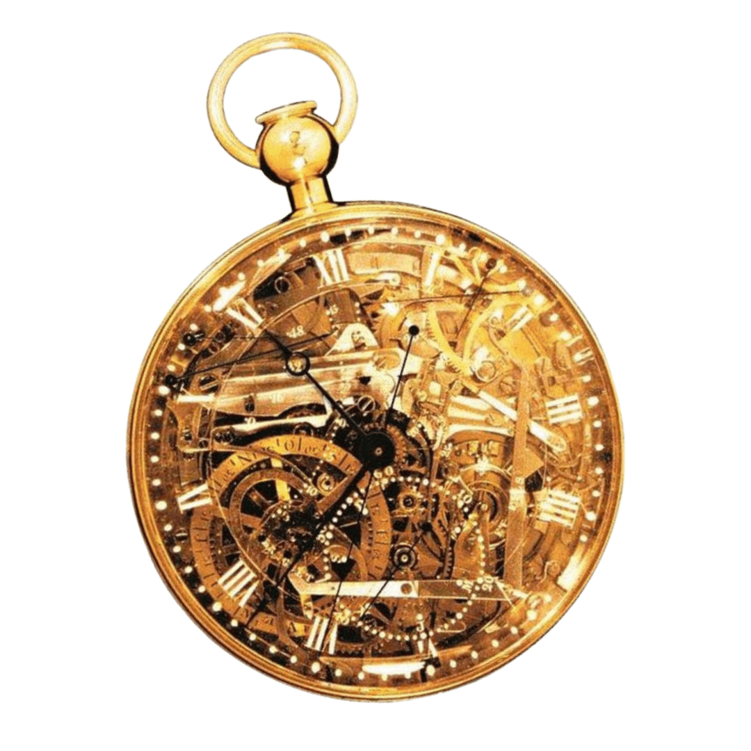 Photo of gold Marie Antoinette pocket watch
