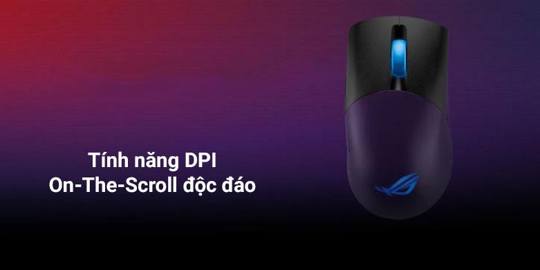 Chuột gaming không dây Asus ROG Keris Wireless (P513) (Đen) | Tính năng DPI độc đáo