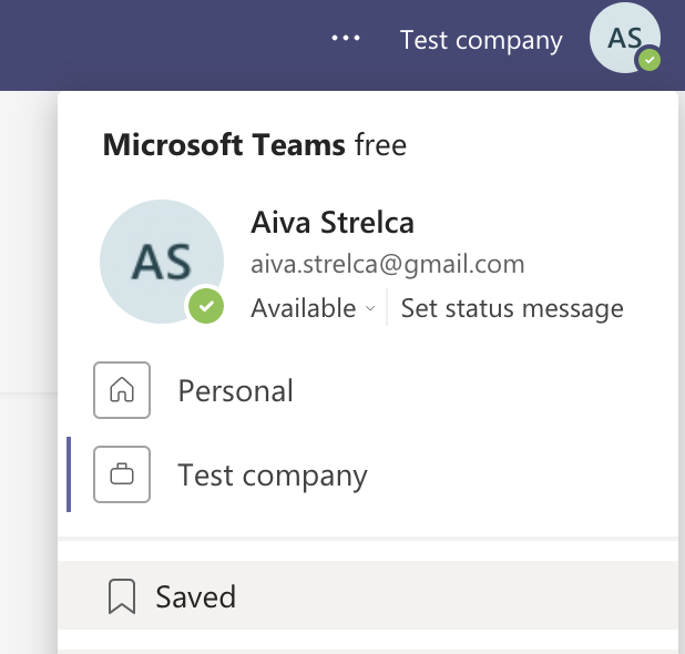 Where to find saved messages on Microsoft Teams