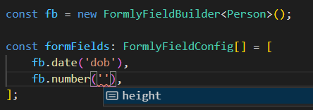 Auto complete for valid types