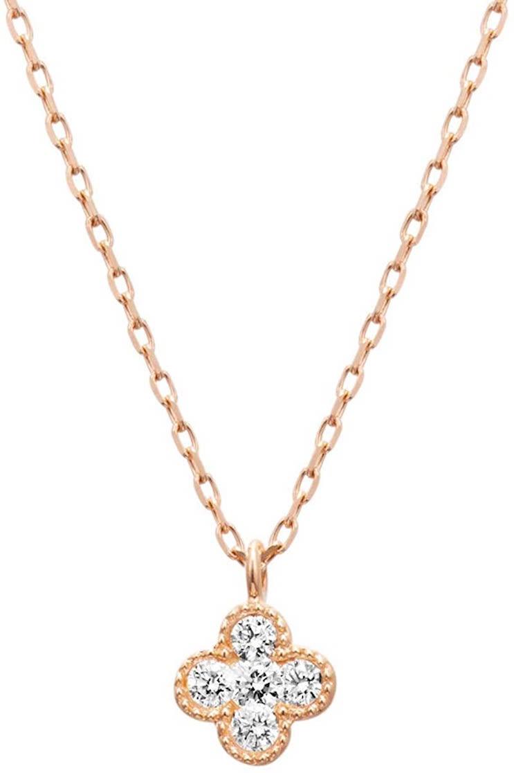 4℃ダイヤモンド K10ピンクゴールド(PG)ネックレス