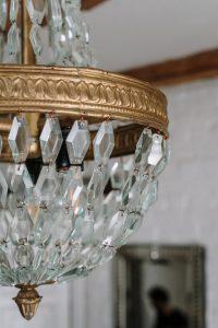 Luxury, elegant crystal chandelier