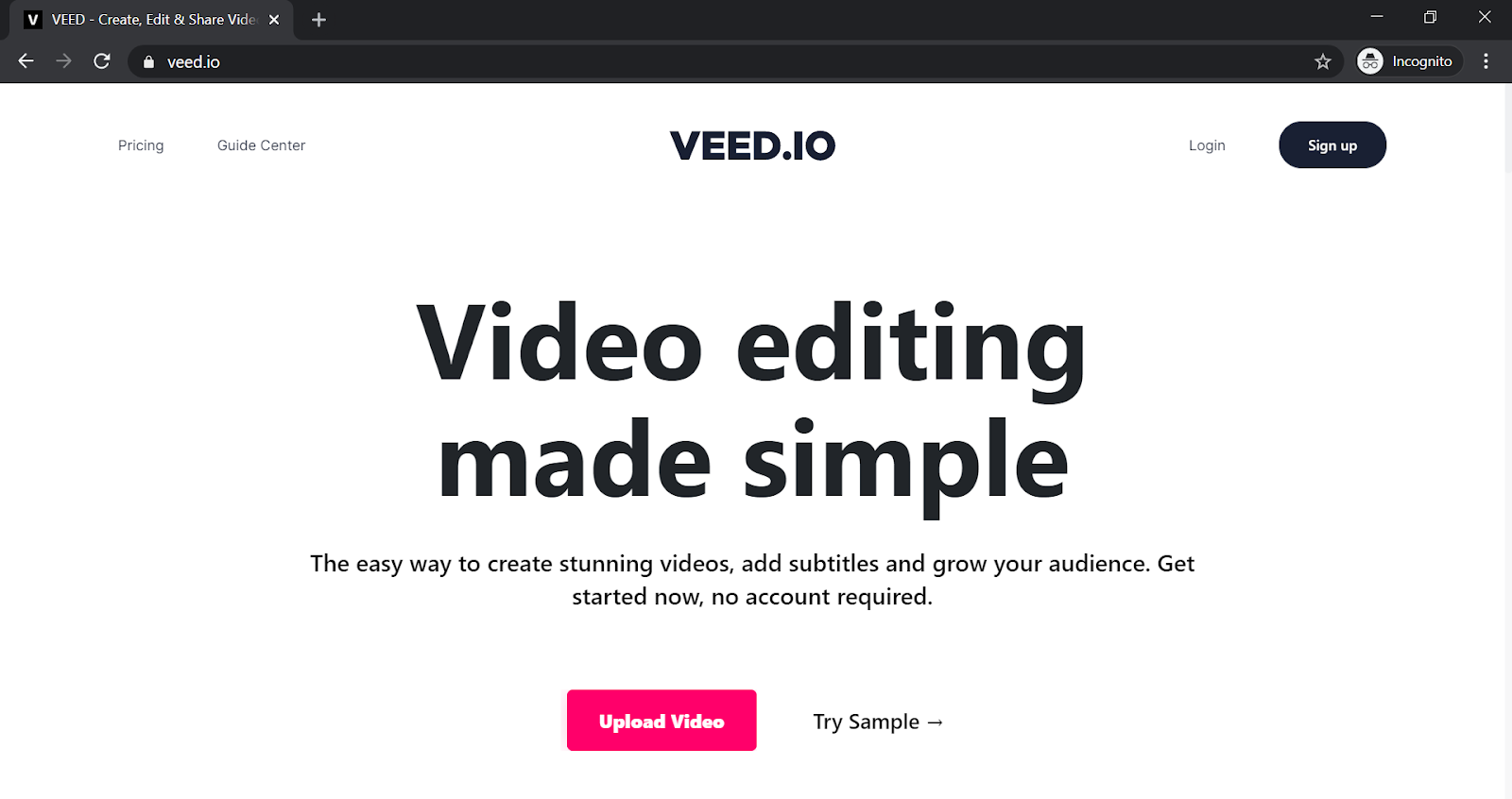 veed app page