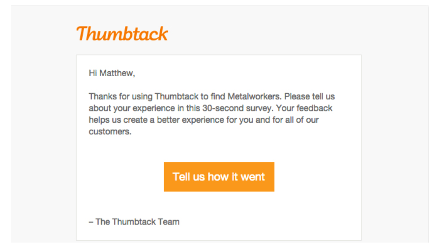 build your email list like Thumbtack does