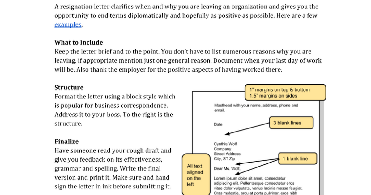 Resignation letter google docs spiritdancerdesigns Image collections