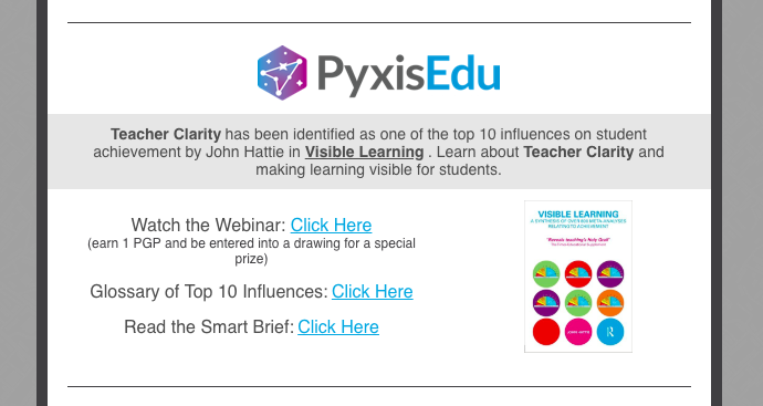 Pyxis - Teacher Clarity Resources Graphic