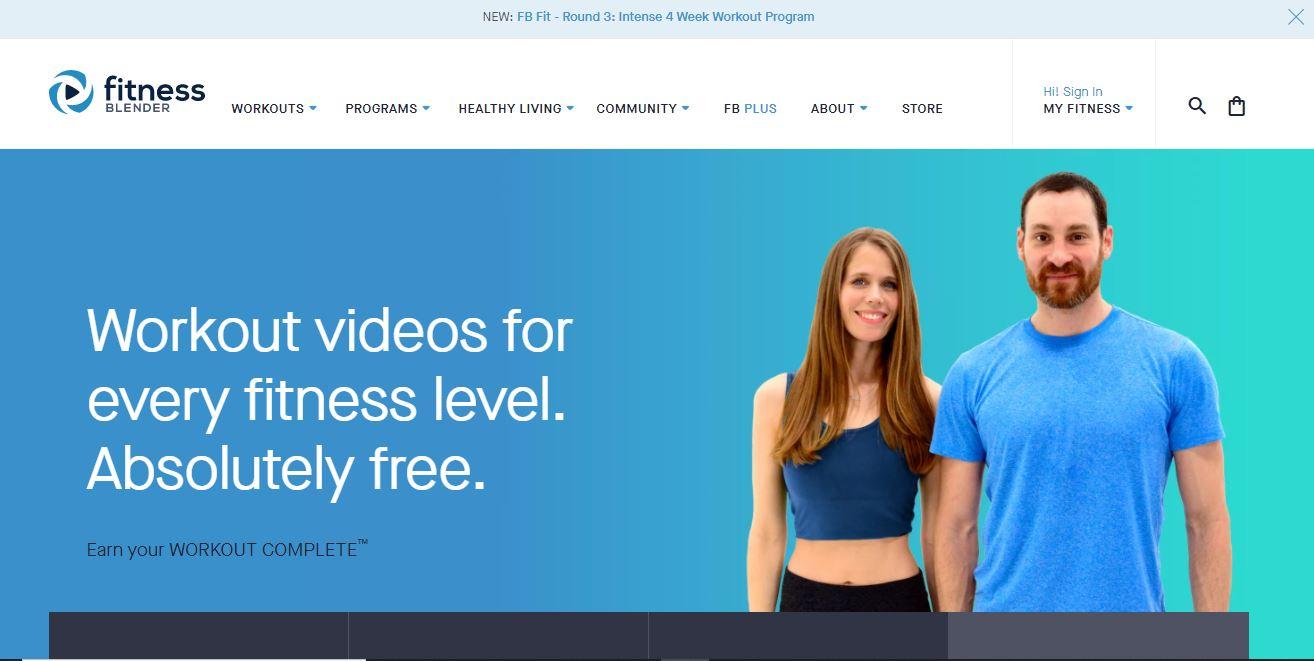 Fitness Blender website.