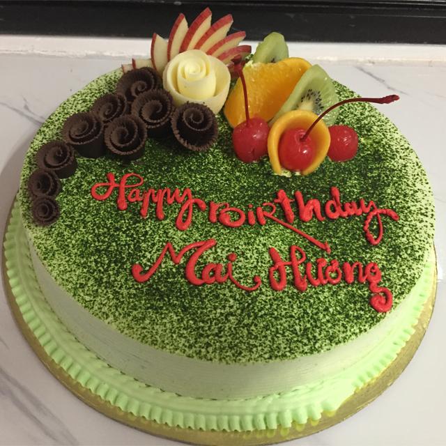 Bánh sinh nhật vị trà xanh với hương vị thơm ngon khó cưỡng