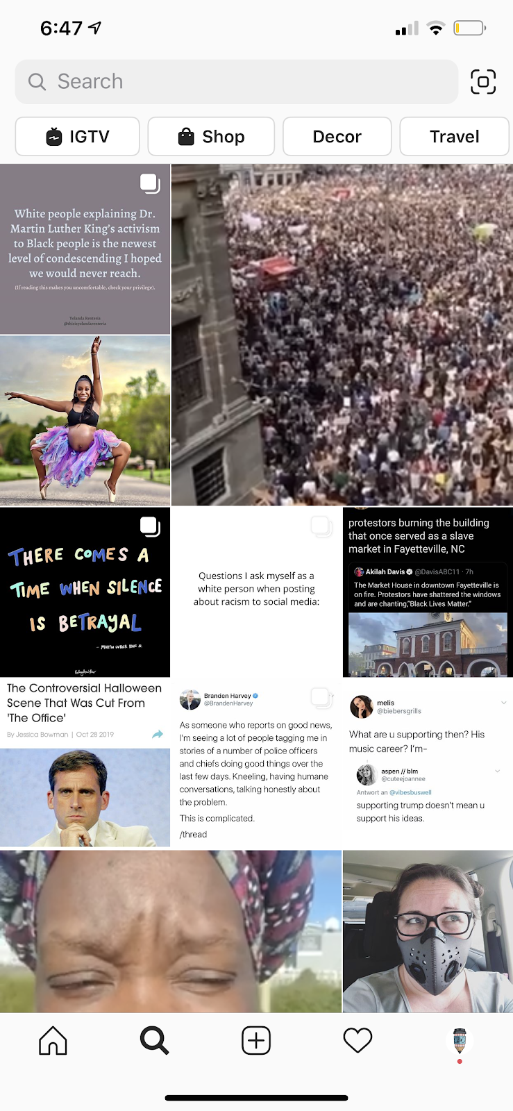 stories on explore page