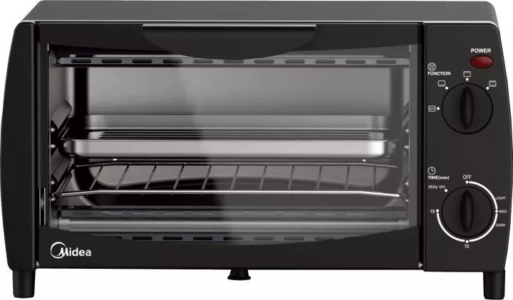 Midea 10L Toaster Oven Model MEO-10BDW-BK is Best Toaster Oven For Small Spaces, How Did We Select These Top 13 Indoor Food Heaters?, 10 6 Best Toaster Ovens for Small Spaces table top kitchen top, counter top