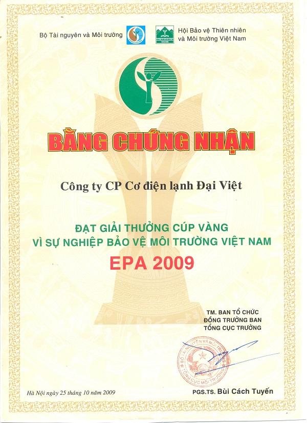 Lễ trao cúp vàng vì sự nghiệp bảo vệ môi trường Việt Nam