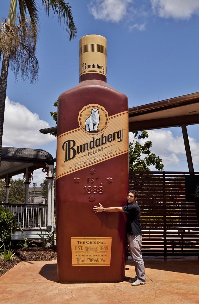 the big rum bottle sculpture of a bundaberg rum bottle