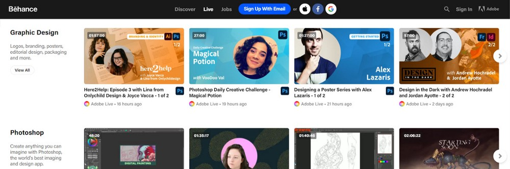 Behance live classes