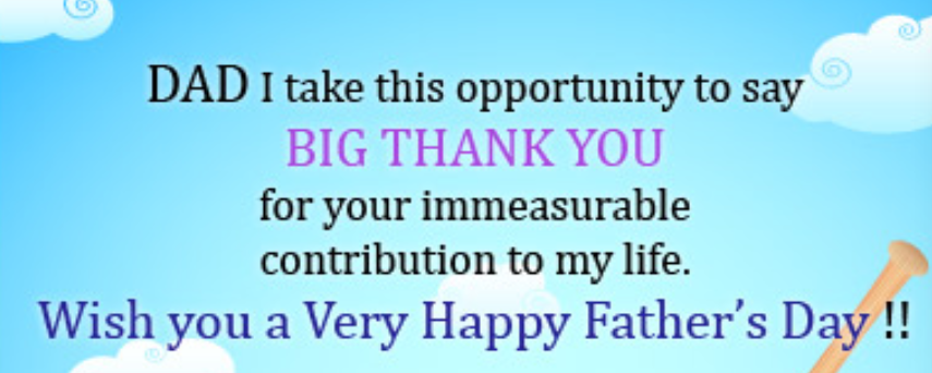 Fathers Day Wishes: Use a thank you card