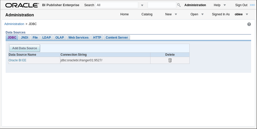 How to access to VDP from OBIEE via JDBC