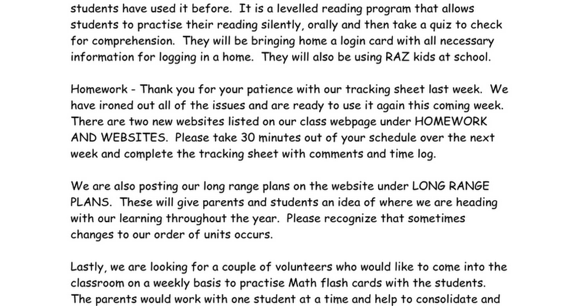 homework and more google docs