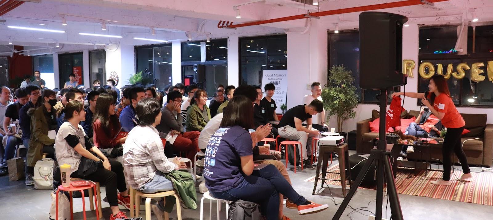 Carousell 旋轉拍賣台灣 HR Carol 負責主持這次技術分享會