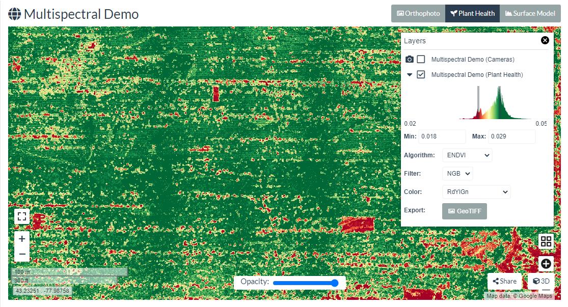 ENDVI on WebODM | Vegetation Management